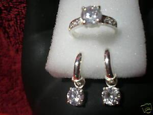 jem: SALE! HUGE 2-CARAT DIAMOND SOLO DROP EARRINGS & RING JEWELRY IN FINE SILVER