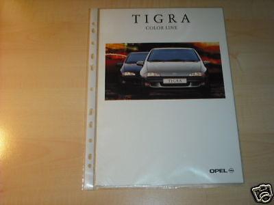 10593) Opel Tigra Color Line Prospekt 1998 Hohe Belastbarkeit