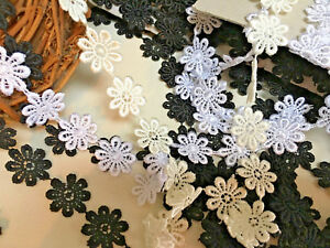 25mm-1-034-Guipure-Daisy-Lace-Trimming-Sewing-amp-Crafts-Choose-Colour-and-Length