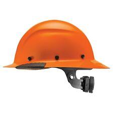 Lift Safety Dax Hivis Orange Full Brim Hard Hat With Ratchet Suspension Hdf 18og