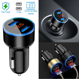 5V-3-1A-Dual-USB-Port-Car-Charger-Quick-Charge-Adapter-LED-for-iPhone-Samsung-LG