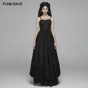 PUNK-RAVE-Women-039-s-Gothic-Sexy-Multilayered-Lace-Steampunk-Retro-Gown-Long-Dress