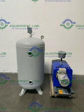 Quincy Air Compressor Qcv 040 090 With 60 Gallon Steel Fab Air Tank