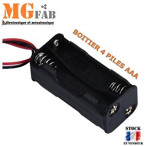 Boitier 4 piles 1.5V AAA LR03 fil 10cmArduino alimentation power DIY KIT