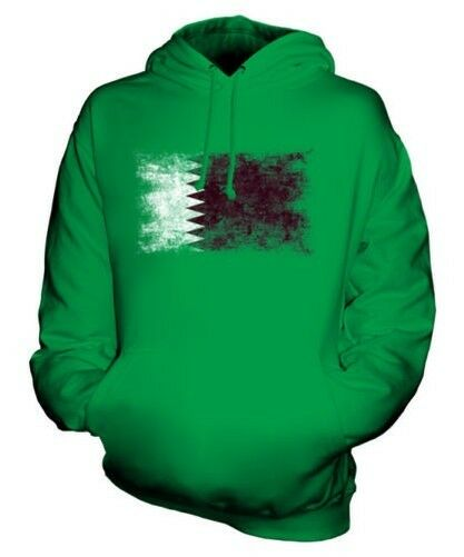 QATAR DISTRESSED FLAG UNISEX HOODIE TOP QATAR FOOTBALL QATARI GIFT