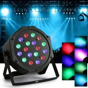 18-LED-UV-Buehnenbeleuchtung-Lichteffekt-Strahler-Stage-Buehnelicht-DMX-Disco-DJ