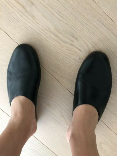 Martiniano Black Leather Mules 37