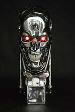 Terminator T2 Model T800 Skull Endoskeleton Lift-Size Bust Figure Statue Toy LED
