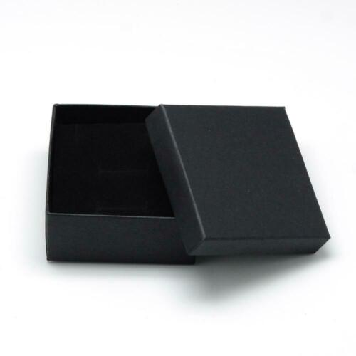 12pcs Cardboard Jewelry Set Box Ring Necklace Square Black 7cm Gift Boxes Case