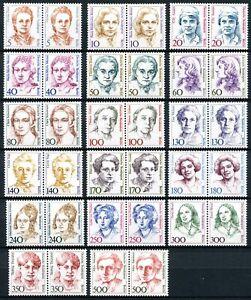 Berlin-Dauerserie-DS-Frauen-waag-Paare-postfrisch-MNH-komplett-XL5511