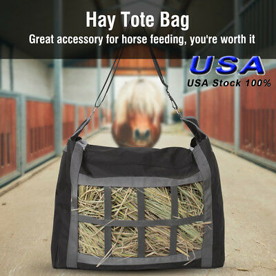 Large Horse Hay Bag Tote Front Divider Top Load Heavy Duty 600D Oxford US STOCK