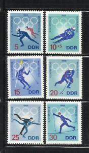 Alemania D D R Ano 1968 Tema Olimpiadas De Invierno En