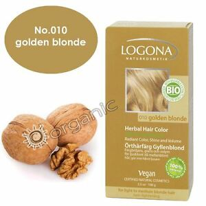 b9873ee0d Image is loading Logona-Organic-Golden-Blonde-Herbal-Hair-Colour-100g-