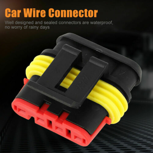 10Pcs//Set 3Pin 4 Pin Way Car Auto Electrical Wire Connector Plug Kit Waterproof