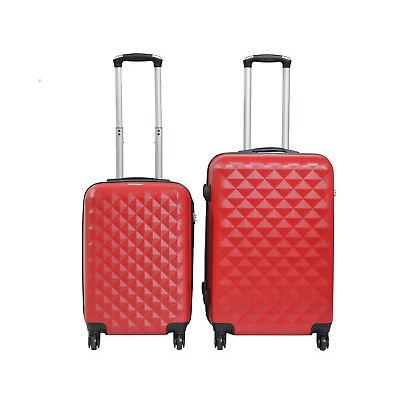 Juego de 2 maletas de 4 ruedas rombo maleta pequeña y maleta mediana ABS varios