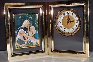 SALE-NIB-Quartz-Desk-Clock-amp-Photo-Frame-Picture-Frame