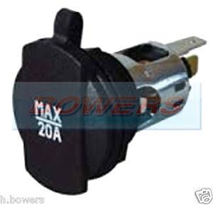 Durite-0-601-01-12v-24v-Power-Socket-Con-Tapa-Para-28-Mm-Panel-Agujero-20-Amps-Max