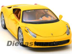 Bburago 26003 Ferrari 458 Italia rot Maßstab 1:24 Modellauto NEU °