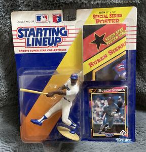 1992 STARTING LINEUP MLB RUBEN SIERRA TEXAS RANGERS SEALED PACKAGE