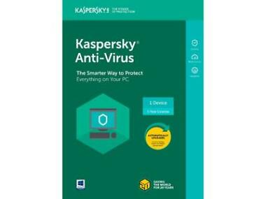 Kaspersky Anti-Virus 2018 1 Devices / 1 Year [Key Card]