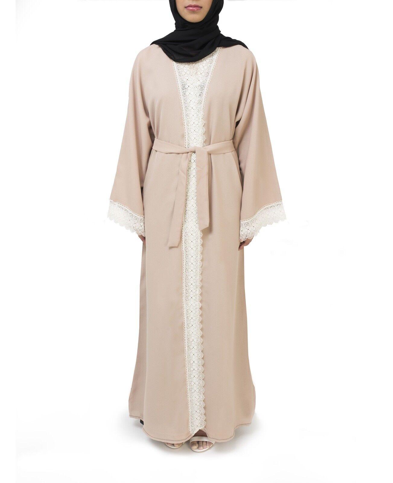 Cream And White Abaya Sizes 52,54,56,58