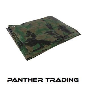 Silverline-2-4-x-3m-Camouflage-Camo-Tarpaulin-Waterproof-amp-Tearproof-488443
