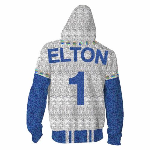2019 Rocketman Elton John Dodgers Hoodie Baseball Team Uniform Cosplay Costume