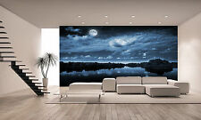 FULL BLUE MOON Wall Mural Photo Wallpaper GIANT DECOR Paper Poster Free Paste