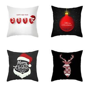 PM-Christmas-Baubles-Hat-Deer-Head-Pillow-Case-Cushion-Cover-Sofa-Bed-Car-Dec