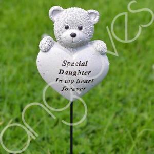 Special-Daughter-Teddy-Bear-Heart-Memorial-Tribute-Stick-Graveside-Plaque