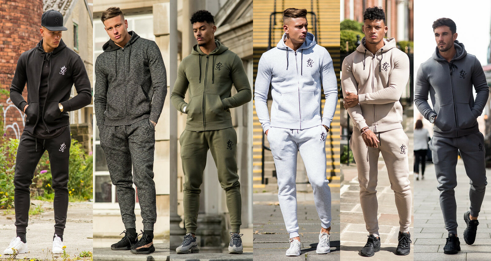 Mens Tracksuit Gym King Core Track Top Hoody / Jogger Bottoms