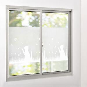 film anti regards verre d poli chat 67 5 cm x 4 m statique fen tre ebay. Black Bedroom Furniture Sets. Home Design Ideas