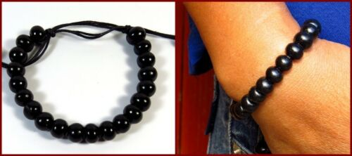 Hommes bracelet noir bracelets de perle Hipster Armschmuck NEUF
