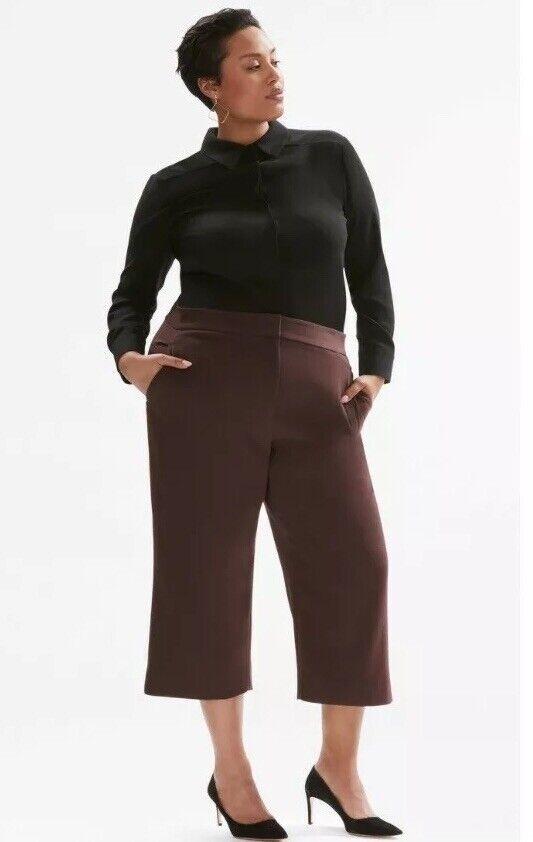 MM Lafleur The Pippa Pant—Stretch Twill Raisin -  Plus Size 2X