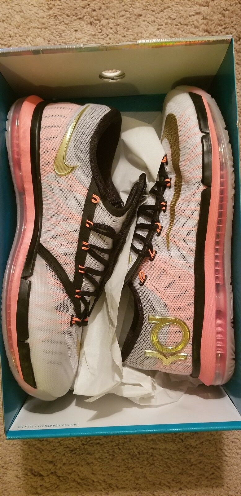 Nike KD VI Elite Gold Size 13 Good Condition