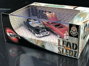 Lead-Sleadz-II-2-Car-Set-Hot-Wheels-Collectibles-Limited-Edition-1-64-Diecast