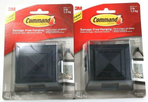 2 Ct Command Damage Free Hanging Holds 3 Lb Decorative Knob Removes Cleanly