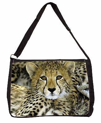 Apprensivo Baby Cheetah Large Black Laptop Shoulder Bag School/college, At-18sb