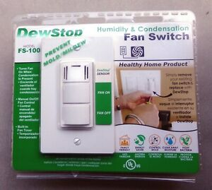 Dew Stop FS-100-W1 Automatic Humidity Fan Control Switch ...