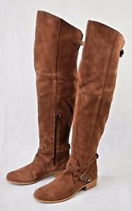 cf74f0079db99f Details about New   Boxed Charles David Gianna Suede Over The Knee Boots  Tobacco - US 8 (220)