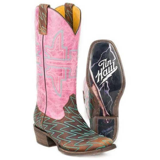 New in Box Women's Tin Haul Lightning Luke Boots With Perfect Storm Sole Size 6