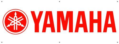 YAMAHA 3/'X8/' WIDE VINYL BANNER MAN CAVE GARAGE SIGN STREET BIKES MECHANIC RACING