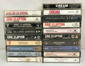 Lot-of-19-Eric-Clapton-Derek-and-the-Dominos-Cream-Cassette-Tapes
