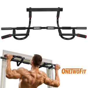 OneTwoFit-Chin-Pull-Up-Bar-Multi-Grip-Bar-Heavy-Duty-Doorway-Trainer-Gym-OT005