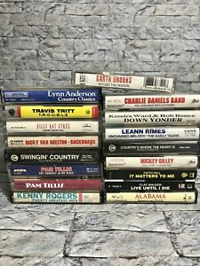 Lot-of-17-Classic-Country-Western-Cassette-Tapes-Billy-Ray-Garth-Alabama-Leann