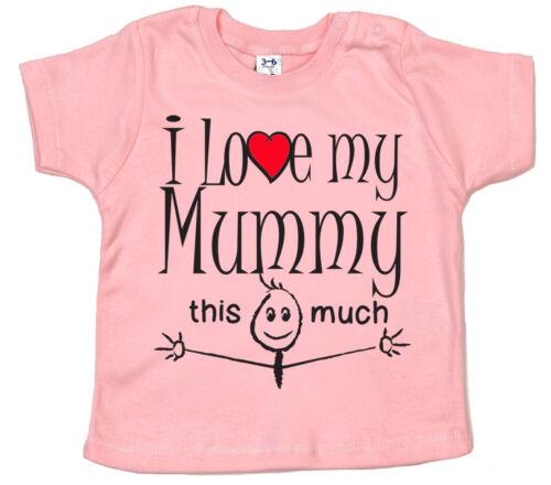 "Mummy Baby T-Shirt /""I Love My Mummy this Much/"" Birthday Christmas Mother Gift"