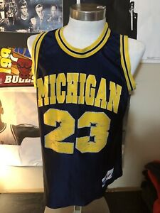 52195e026 MAJESTIC - Men s Navy Gold Michigan U. Basketball Jersey  23 - SIZE ...