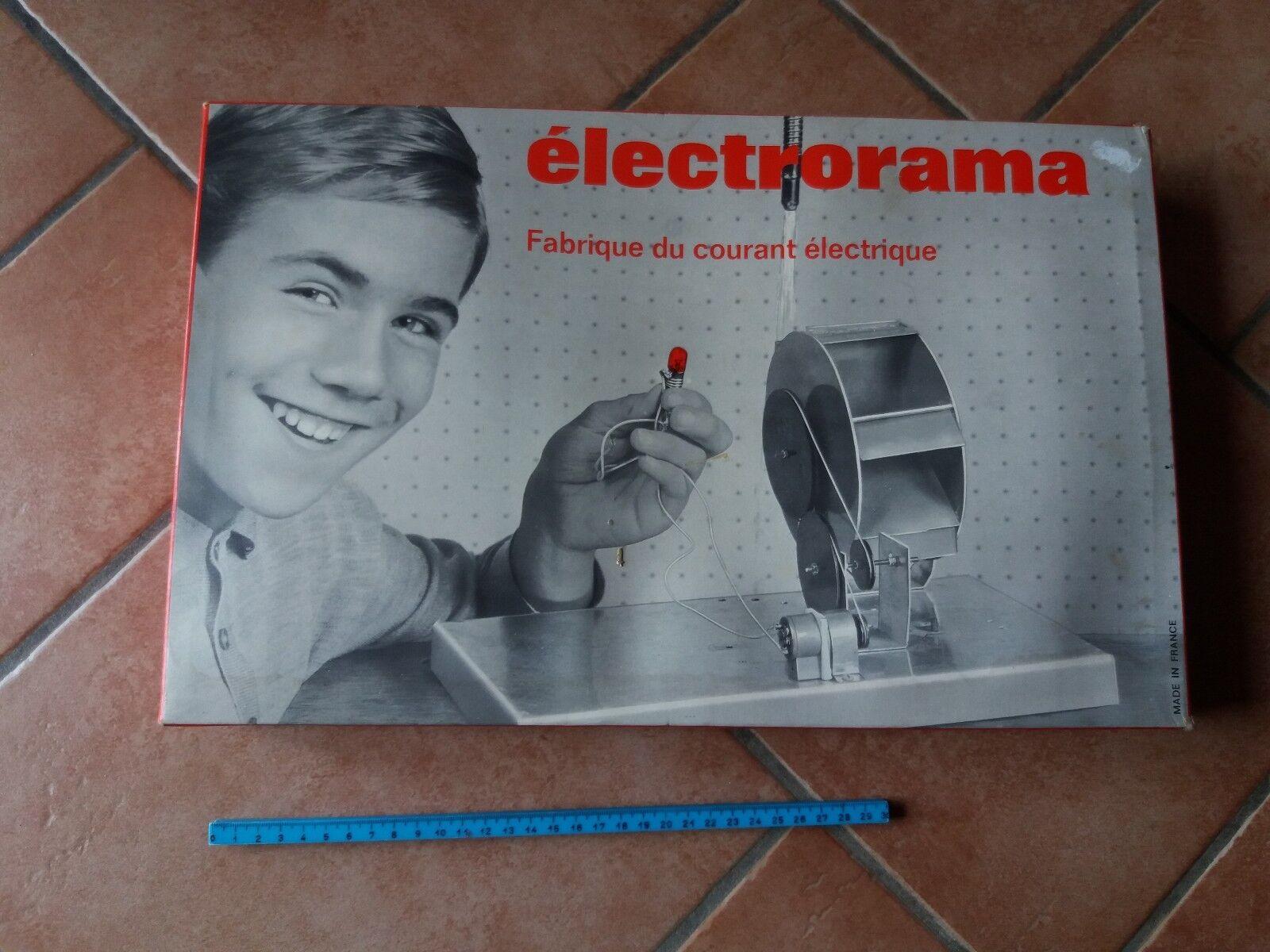 SCATOLA COSTRUZIONI VINTAGE ANNI 60 ELECTRORAMA FABBRICA DI CORRENTE ELETTRICA