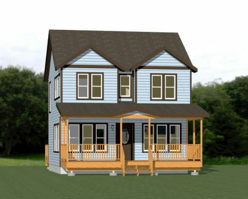 24x24 House -- 3 Bedroom -- 1.5 Bath 1,106 sq ft -- PDF ...
