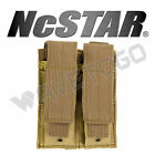 VISM NcSTAR Glock SWAT Police MOLLE PAL Double Pistol Mag Pouch Double Stack Tan